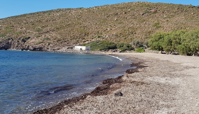 Lefkes Beach at Patmos.