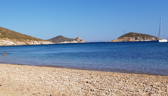 Livadi Geranou Beach at Patmos.