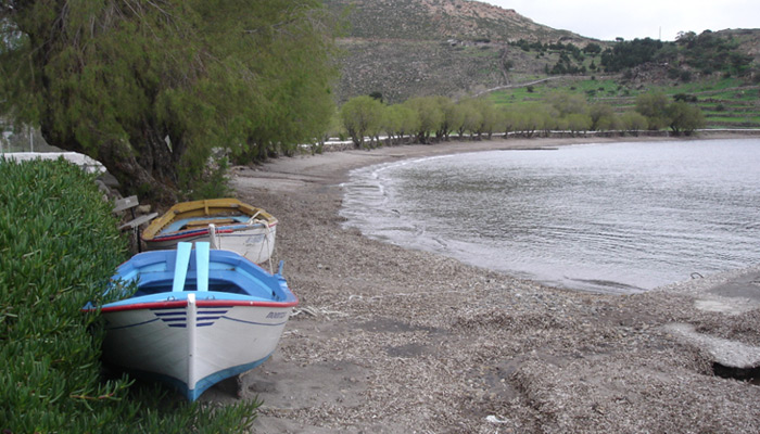 Meloi Beach at Patmos.