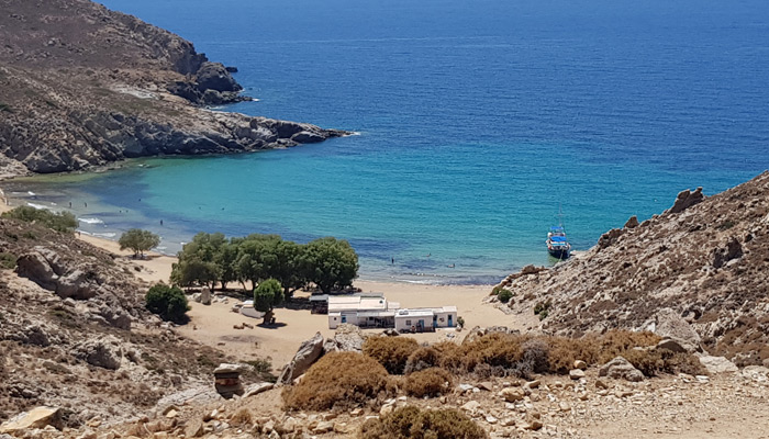 Psili Ammos Beach at Patmos.
